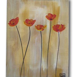 Art: Easter Poppies by Artist Eridanus Sellen