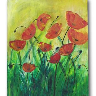 Art: Spring Time Poppies by Artist Eridanus Sellen