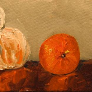 Art: Two Oranges by Artist Delilah Smith