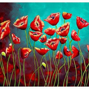 Art: The Poppy Garden by Artist Elena Feliciano