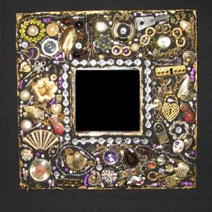 Art: Costume Jewelry Mirror II (sold) by Artist Dorothy Edwards