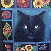 Art: Sunflower Cat by Artist Rosemary Margaret Daunis