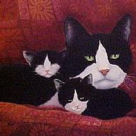 Art: Mama Cat by Artist Rosemary Margaret Daunis