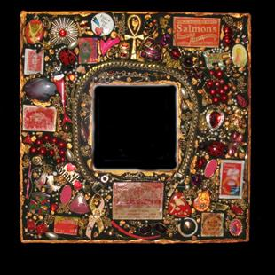 Art: Match Book Mirror (sold) by Artist Dorothy Edwards