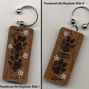 Art: Paws For A Cause Keychain by Artist KiniArt