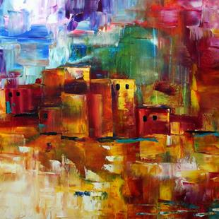Art: Santa Fe Afternoon Showers by Artist Laurie Justus Pace