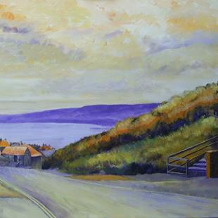 Art: Double Yellow (The Road to Robin Hood's Bay) by Artist John Wright