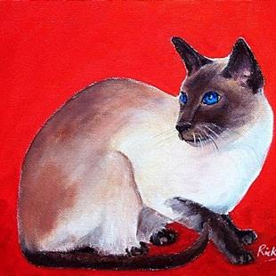 Art: SIAMESE - sold by Artist Ulrike 'Ricky' Martin