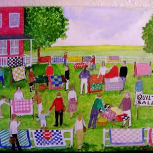 Art: Quilt Sale (Sold) by Artist Fran Caldwell