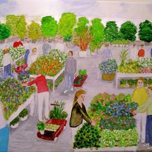 Art: Garden Center (SOLD) by Artist Fran Caldwell