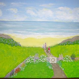 Art: Private Beach (SOLD) by Artist Fran Caldwell