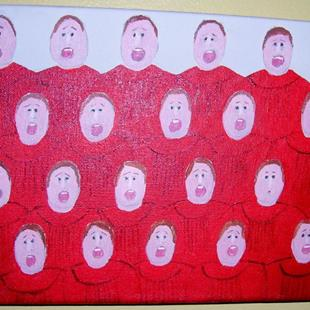 Art: The Choir (SOLD) by Artist Fran Caldwell