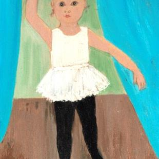 Art: Mandy Starts Ballet (Sold) by Artist Fran Caldwell