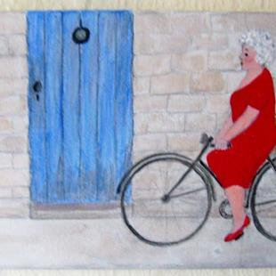 Art: Gran in Provence? (SOLD) by Artist Fran Caldwell