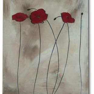 Art: Shaded Poppies by Artist Eridanus Sellen