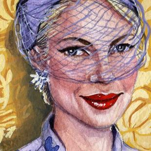 Art: Lady With Yellow Wallpaper by Artist Mark Satchwill