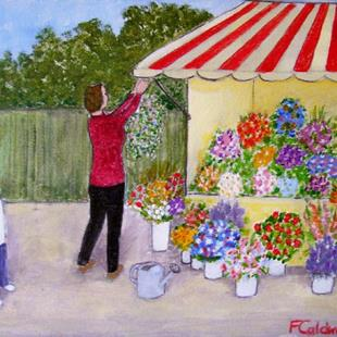 Art: The Flower Lady (SOLD) by Artist Fran Caldwell