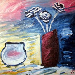 Art: Fish Bowl and Flowers by Artist Shane Darren Ervin