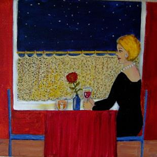 Art: The Empty Chair (SOLD) by Artist Fran Caldwell