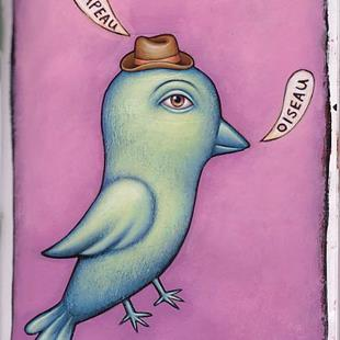 Art: Hat Bird by Artist Valerie Jeanne