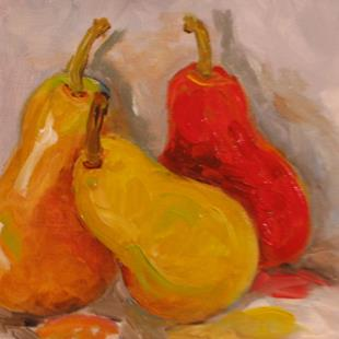 Art: Red Pear-sold by Artist Delilah Smith