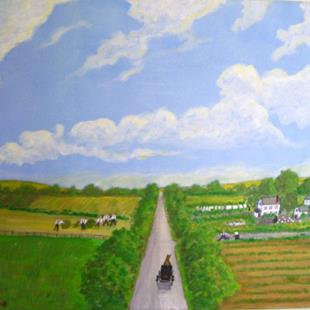 Art: Amish Country (Not for Sale) by Artist Fran Caldwell