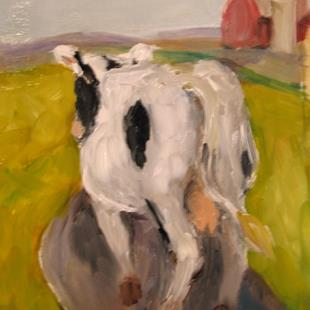 Art: When the Cows Come Home-sold by Artist Delilah Smith