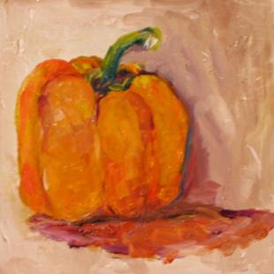 Art: Yellow Pepper-sold by Artist Delilah Smith