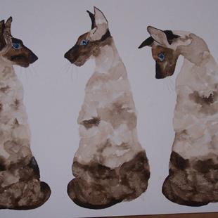 Art: WE ARE SIAMESE by Artist Dawn Barker