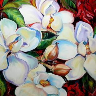 Art: SOUTHERN MAGNOLIA MAY 2007 by Artist Marcia Baldwin