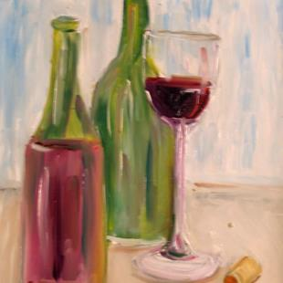 Art: Wine by Artist Delilah Smith