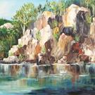 Art: The Rocks of Lake Lure by Artist Torrie Smiley