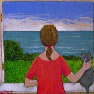 Art: Sea View (Sold) by Artist Fran Caldwell
