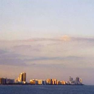 Art: Miami from Afar by Artist Kimmary I MacLean
