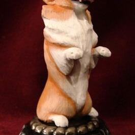 Art: Happy Welsh Corgi by Artist Camille Meeker Turner