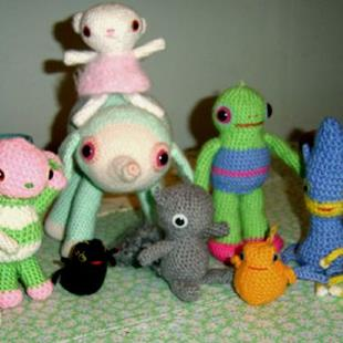 Art: Amigurumi by Artist Vicky Knowles