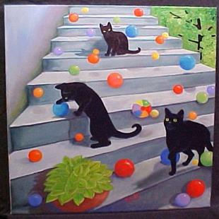 Art: BOUNCING BALLS II by Artist Rosemary Margaret Daunis