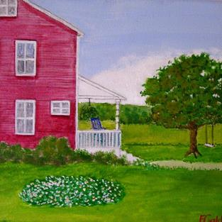 Art: Grandpop's Place (SOLD) by Artist Fran Caldwell