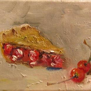 Art: Cherries and Pie-sold by Artist Delilah Smith