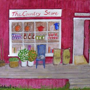 Art: The Country Store (SOLD) by Artist Fran Caldwell