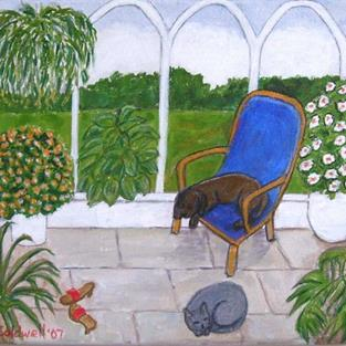 Art: The Conservatory (Not for Sale) by Artist Fran Caldwell