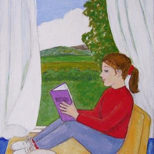 Art: Another Quiet Time (SOLD) by Artist Fran Caldwell