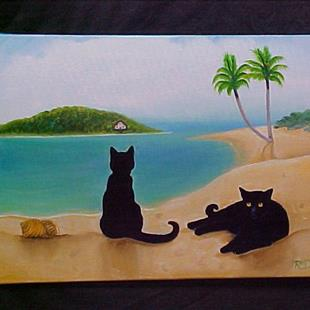Art: PARADISE FOR TWO by Artist Rosemary Margaret Daunis
