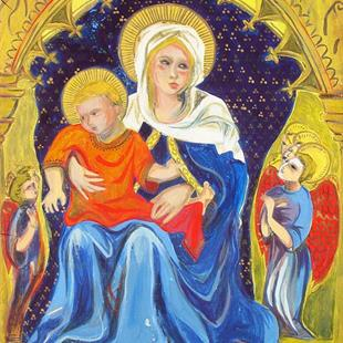 Art: Virgin and Child by Artist Muriel Areno
