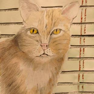 Art: Cat at the Window by Artist Delilah Smith