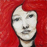 Art: What would I do without my red hair? by Artist Kelli Ann Dubay