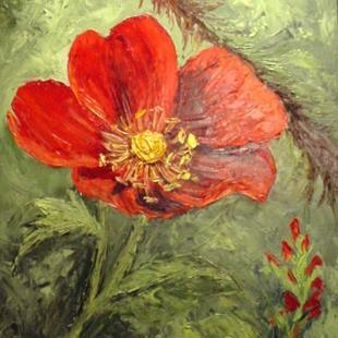 Art: Wild Rose for Hubby //SOLD by Artist Barbara Haviland