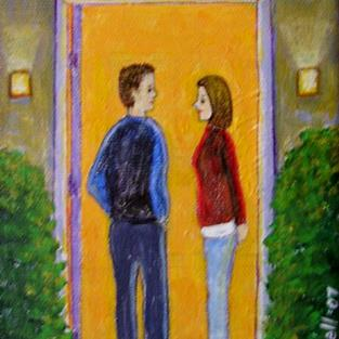 Art: First Date by Artist Fran Caldwell