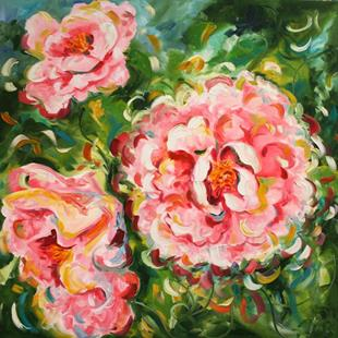 Art: Peonies Popping by Artist Laurie Justus Pace