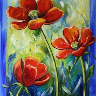 Art: Flowers from Dad's Garden by Artist Laurie Justus Pace